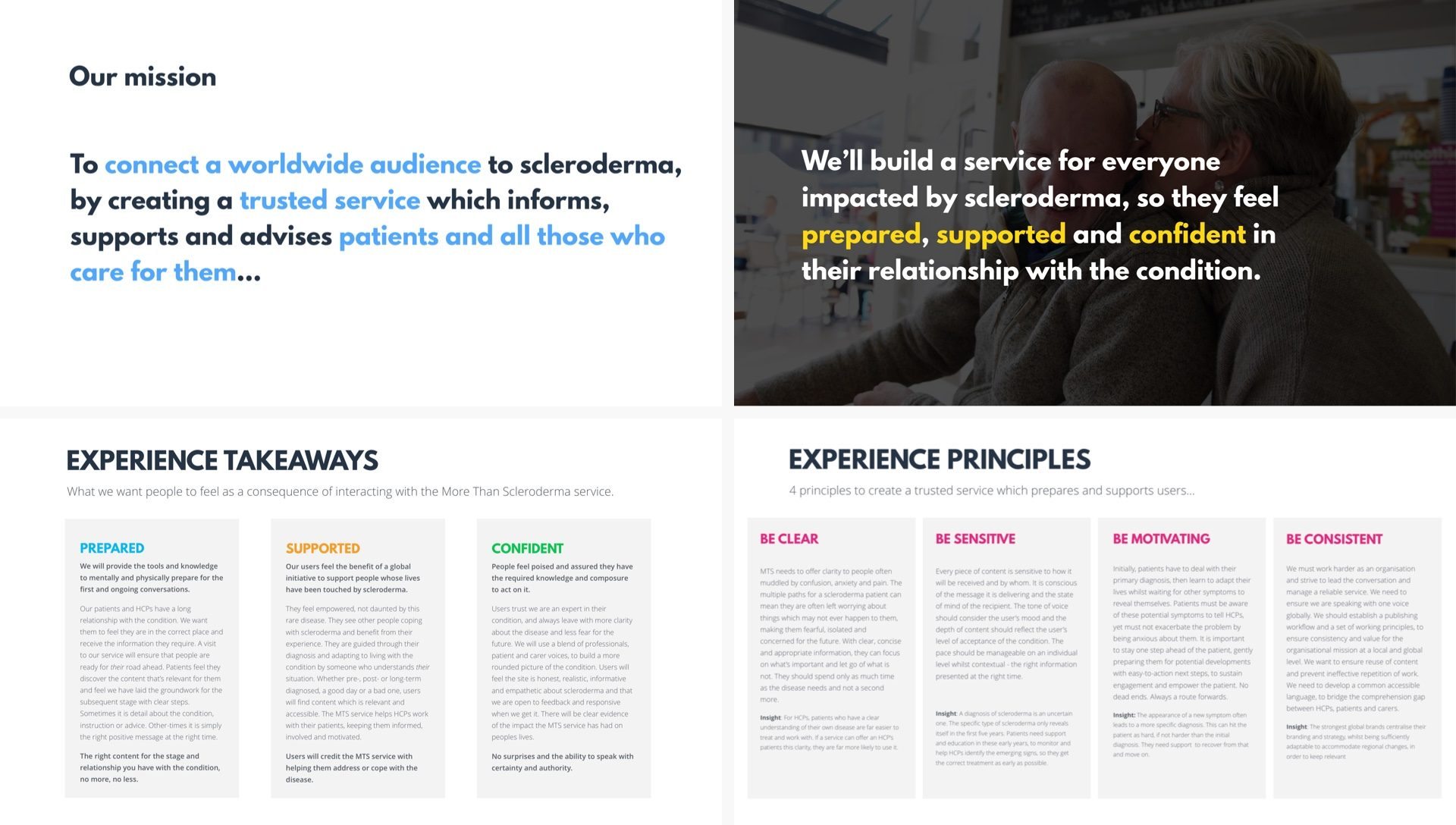 Design principles and brand values to support a design system