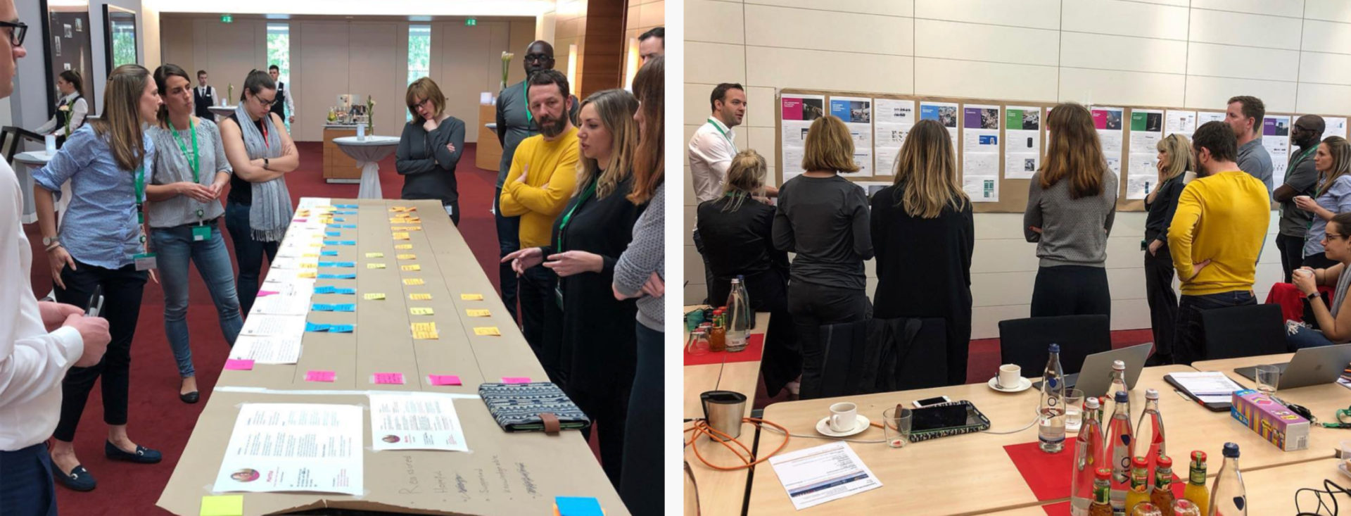 ELSE and the Boehringer Ingelheim team mapping out the steps for a patient centered service